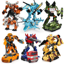 19 Cm Transformasi Mobil Robot Dinosaurus Deformasi TOBOT Mainan Optimus Aksi Figur Hadiah Model Anak Super Hero(China)