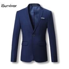 Men Blazer 2017 New Suit Men 5 Colors Casual Jacket Terno Masculino Latest Coat Designs Blazers Men Clothing Plus Size M-6XL