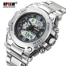 ce03c8ff1fd Homens eletrônicos led digital relógio de pulso hpolw marca esportes  militares relógios à prova d água esporte choque homens rel.