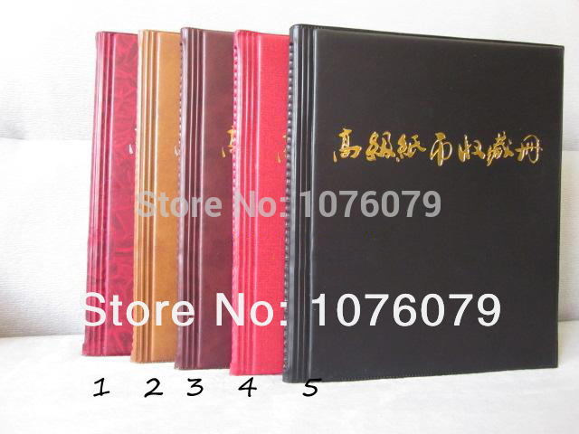 2014 new paper money album,paper money collection book,paper money stock Collection Holds 120 PCS free shopping