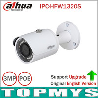 Free Shipping 8pcs Lot DaHua IPC HFW1320S 3MP Mini Bullet IP Camera Day Night Infrared CCTV