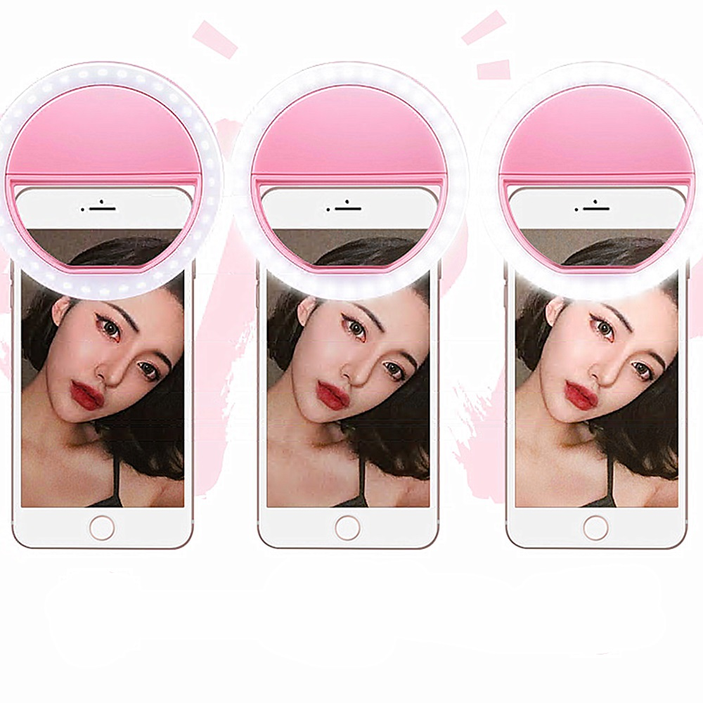 2019 New Portable Universal Selfie Ring Flash Leds Light Lamp Mobile Phone Lens Novelty Cell Phone Camera For Iphone Photo Lamp