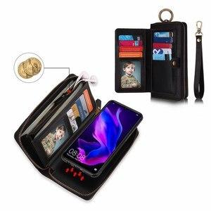 Image 3 - ארנק Wristlet טלפון מקרה עבור coque huawei p30 פרו לייט nova4e אופן בסיסי Etui יוקרה עור מגן ארנק טלפון מעטפת כיסוי תיק