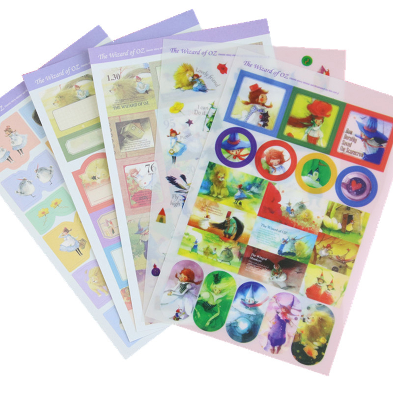 5 Sheets Lot Kawaii Cartoon Sbooking Sticker The Wizard Of Oz Diary Planner Ablum Cute Stationery School Supplies In From