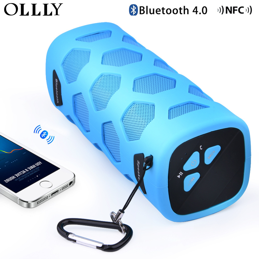 OLLLY Wireless Speaker Portable Bluetooth Speakers 4.0 NFC Shockproof 3D Sound,Phone Charger 4000mAh With Mic Hands-Free Call