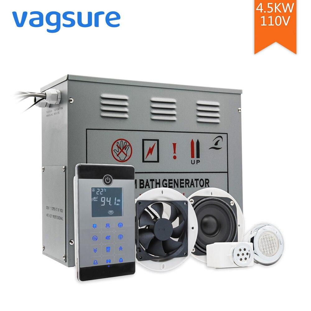 AC 110 V/220 V CE Certificado Remote Controlled 4.5KW Uso Doméstico Bloco de Controle de Vapor Sauna Spa Banho De Metal gerador Para O Chuveiro Do Banheiro