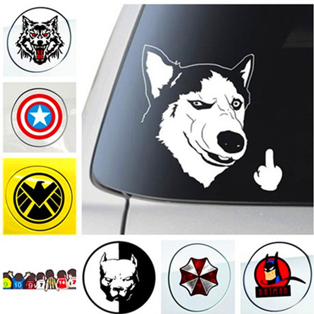 New Funny Hero Dog Car Sticker Decal Styling Fuel Oil Gas Tank
