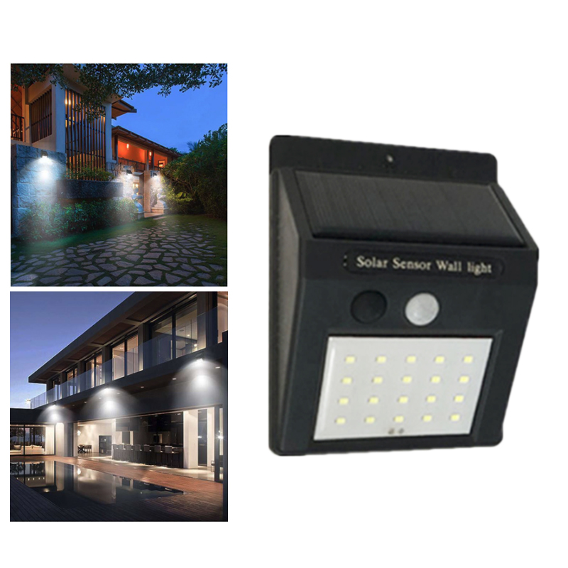 New LED Flashlight Outdoor Sensor Wall Waterproof Solar Garden Street Light Road Sensor Automatically Lamp Motion Night Blubs