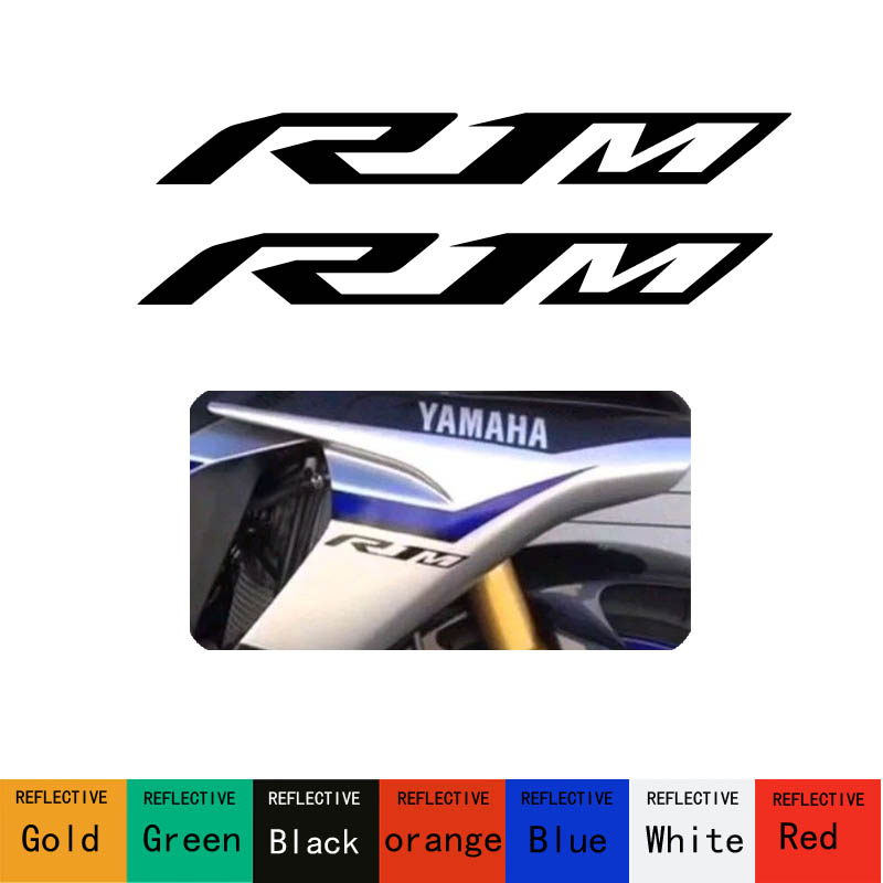Freeshipping Emblem Sticker 2D R1_M R1M motorcycles Decal graphic bike for YAMAHA YZF R1 2 pieces Hot sell