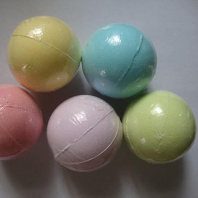 Color Random Natural Bubble Bath Bomb Ball Color Random Essential Oil Handmade SPA Bath Fizzy Christmas Gift for Her