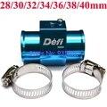 Envío Libre 1/8NPT Temperatura del Agua Sensor Adaptador Gauge Medidor de Temperatura del Agua Pipe Joint Con Abrazaderas (28/30/32/34/36/38/40mm)