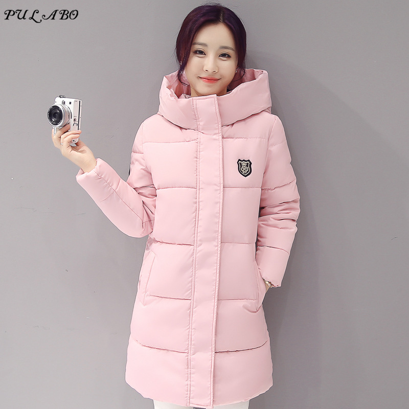 Causal Hooded Parkas Long   Coat   Woman's Basic Jackets Winter Wadded Jacket Women Padded Jackets   Coats   Winter Collection