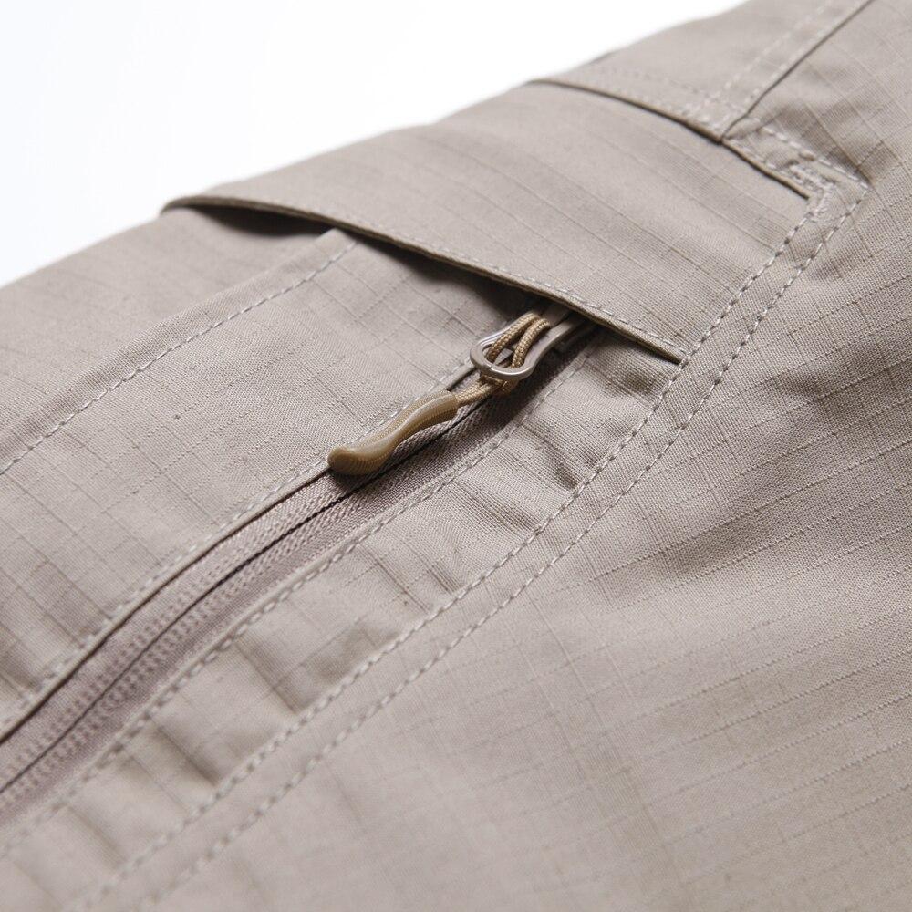 Calças de Trabalho Casuais Finas Calças Largas Bolso