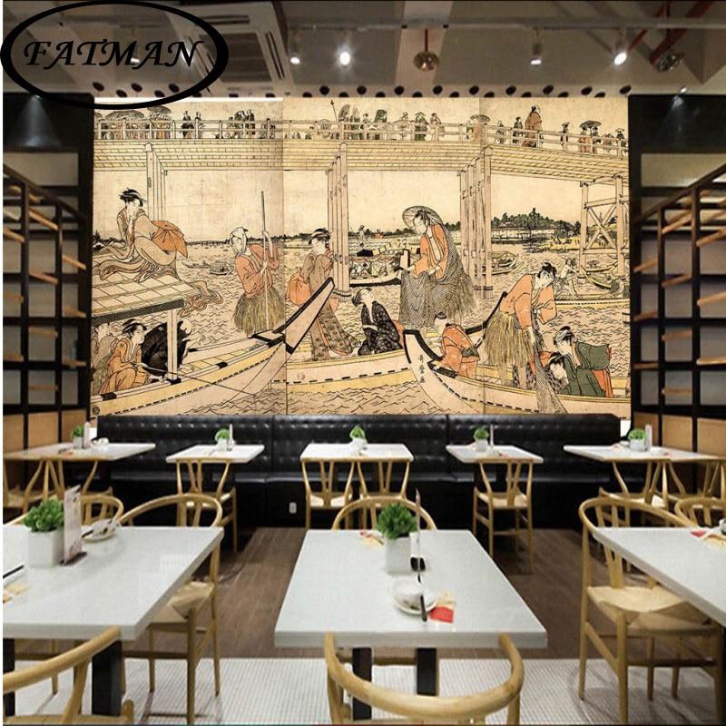 Photo Wallpaper Custom Mural Retro Japanese Lady Leisure Restaurant Cafe Lounge Living Room