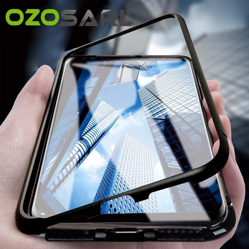 big sale c6bd6 64410 US $4.78 9% OFF|360 Magnetic Adsorption Case for Huawei Nova 3 Case Nova 3e  Full Cover Luxury Magnet Tempered Glass Case for Huawei Nova 3i Case-in ...