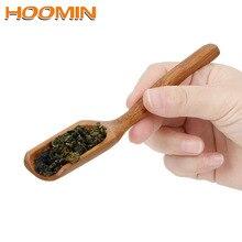HOOMIN, натуральная бамбуковая чайная ложка, Ретро стиль, высококачественная, тонкая ложка для чая, медовый соус, кофе, чайные листья, держатель для выбора