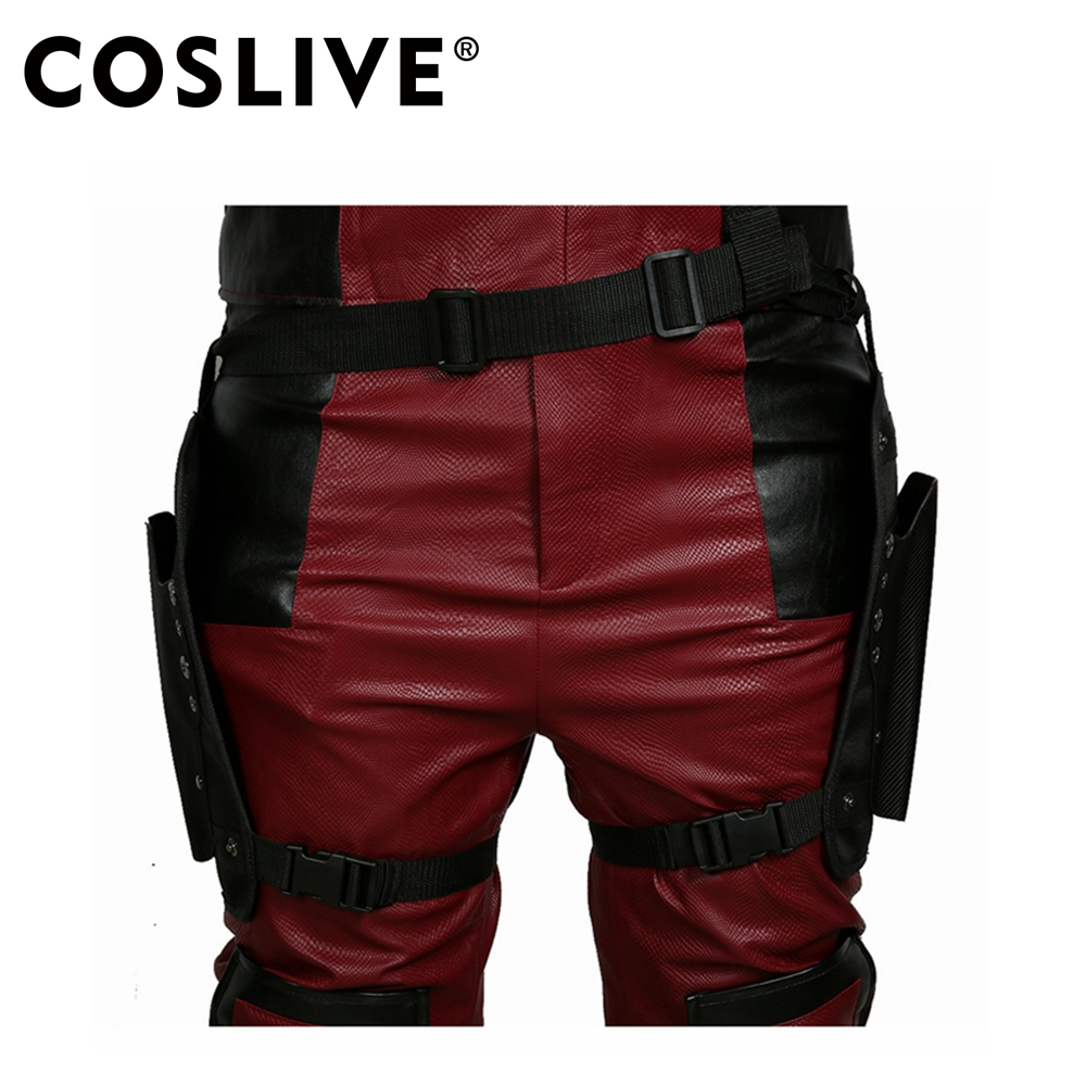Coslive Deadpool 2 Cosplay Brand New Deadpool 2 Belt &Tactical Leg Bag Pockets Holster Props Halloween Cosplay Costume Props