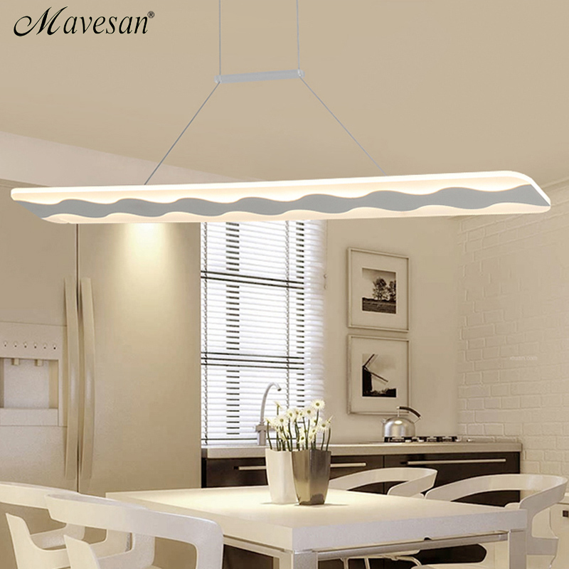 Modern LED Simple Pendant Lights Lamp For Living Room  Lustre Pendant Lights rectangle shape Pendant Ceiling Fixtures noosion modern led ceiling lamp for bedroom room black and white color with crystal plafon techo iluminacion lustre de plafond