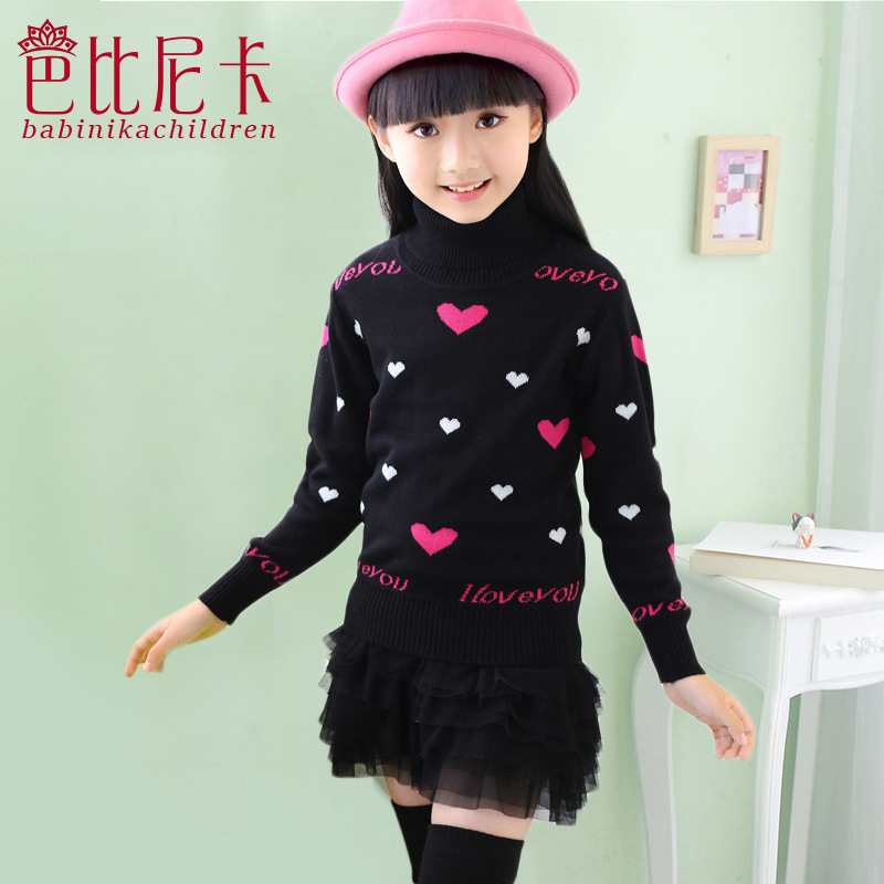 Free shipping Children clothes kids New Casual Girls Full Sweaters Autumn  winter baby clothes girls cardigan