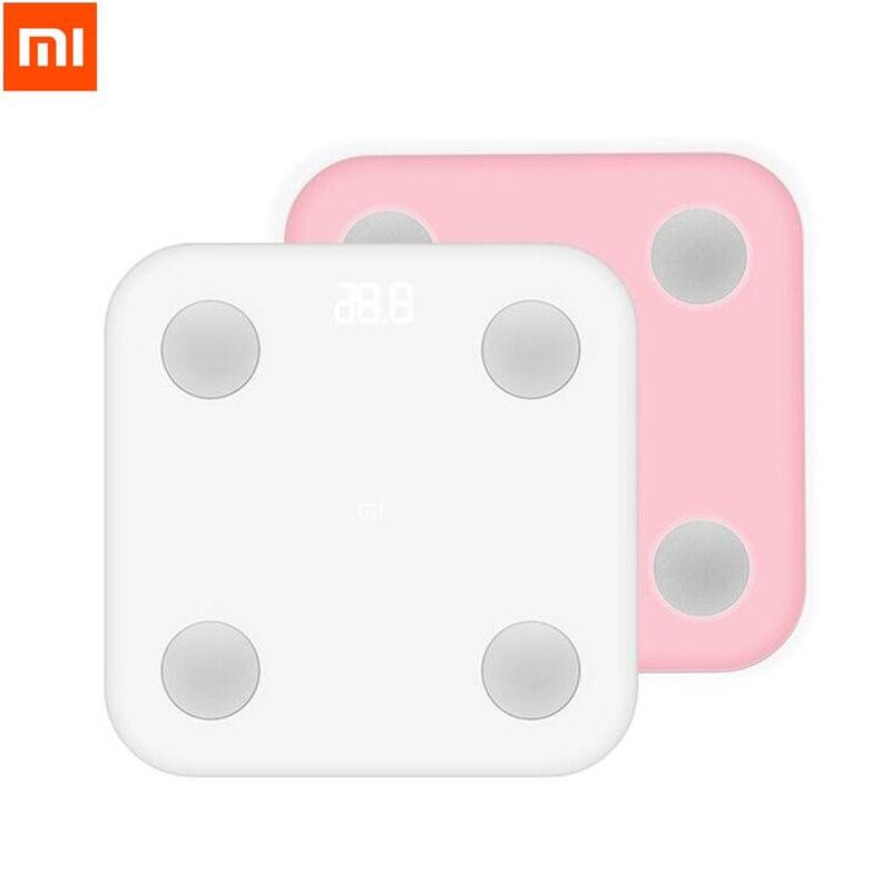 Xiaomi Mi Smart Body Fat Scala Con Mifit APP & Body composizione Monitor Con Hidden LED Display Big Feet Pad perdita di Peso scala