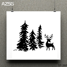 Pine tree/elk Clear Stamps/seal for DIY Scrapbooking/Card Making/Photo Album Decoration Supplies
