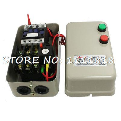 380V Coil AC Contactor 4KW 5.5 HP 3 Phase Motor Control Magnetic Starter 6.8-11A chint electromagnetism starter magnetic force starter qc36 10t motor starter phase protect magnetic force switch