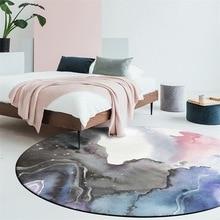 Nordic modern round carpet Living room table full shop kids bedroom bed cute rug Home study swivel chair basket mat soft