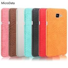 MicroData For Samsung Galaxy A5 2017 A520F A520 Luxury Crocodile Pattern Case on A520F A520 Hard PU Leather Phone Case