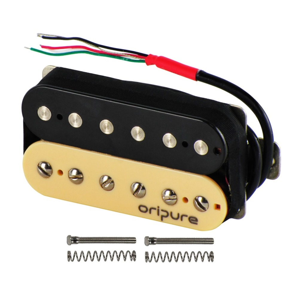 OriPure Vintage Alnico 5 Humbucker Double Coil Pickup Electric Guitar Pickup Bridge Zebra Color Warm Sound-in Guitar Parts & Accessories from Sports & Entertainment    1