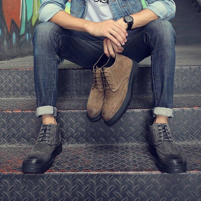En Bullock Bottes Nouveaux Hommes Chaussures Des noir Loisirs Martin Véritable De Hauts Porter À bleu Cuir Talons Beige OxHX1qH