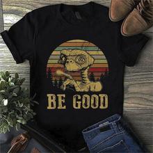 Funny Aliens Be Good Vintage Aliens Men Black T Shirt Cotton S 4Xl Us Supplier