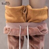 Sonbahar Kış Kadın Kadife Pantolon Düz Moda Pantolon Rahat kalem Pantolon Artı kadife kalınlaşma sıcak pantolon Tutmak İpli