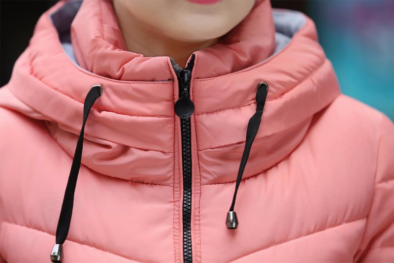 Winter Jacket Women Parkas Thicken Outerwear solid hooded Coats Short 48