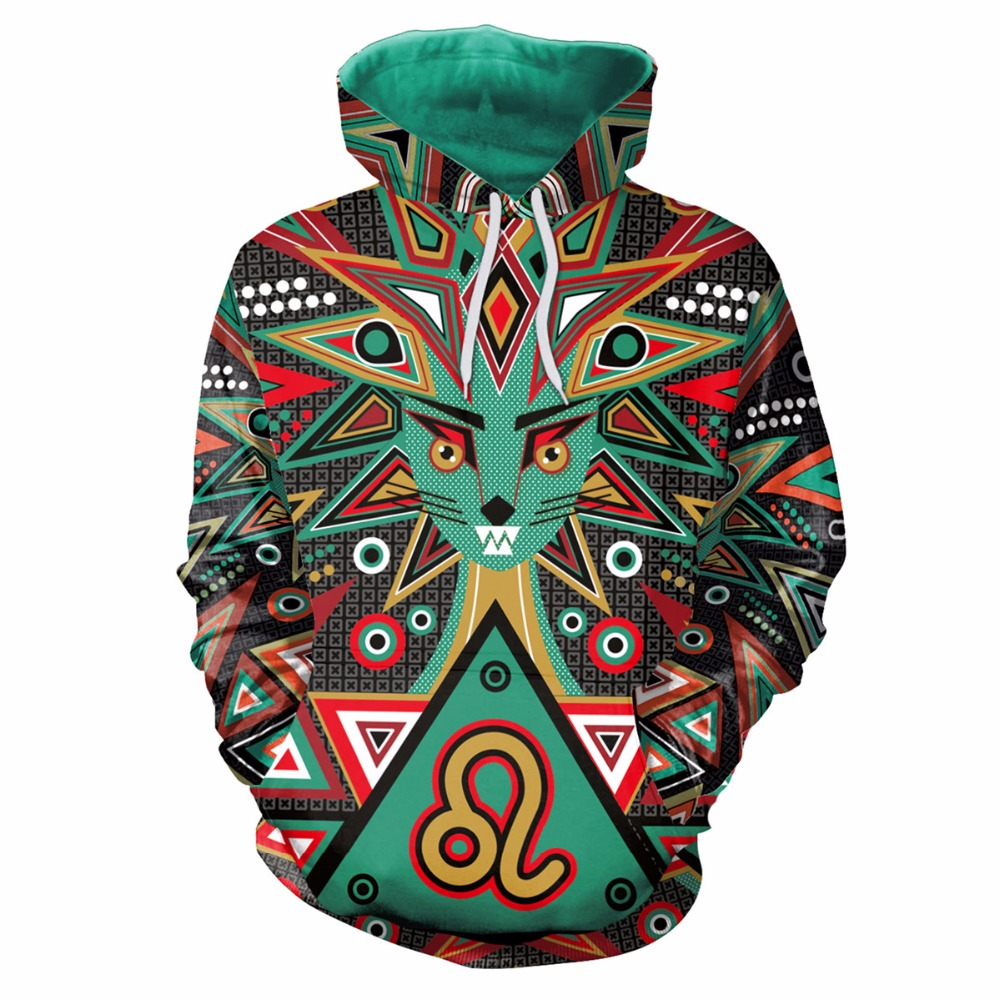 [EL BARCO] Colorful 3D Print Hoodies Sweatshirt Men Women Cotton Funny Hip Hop Slim Male Outwear Pullover Long Winter Tops M-2XL