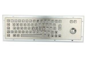 Металлическая клавиатура с водонепроницаемой промышленной клавиатурой с 67 клавишами, медицинская клавиатура