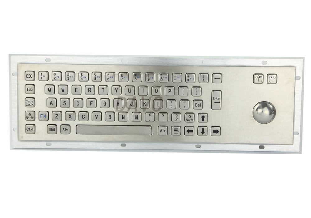 Kovová klávesnice s nepromokavou průmyslovou klávesnicí s lékařskou klávesnicí s 67 klávesami