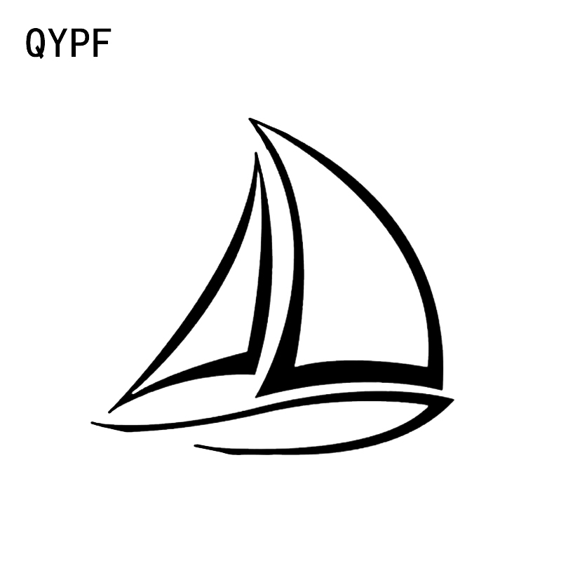 QYPF 11.4*10.6CM Interesting Sailor Sailboat Boat Decor Car Sticker Vinyl Silhouette Accessories C16-0995