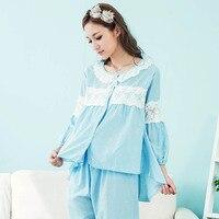 JRMISSLI 100 Cotton Princess Women S White Pajamas Pants Set Lace Decoration Sleepwear Pijamas Femininos