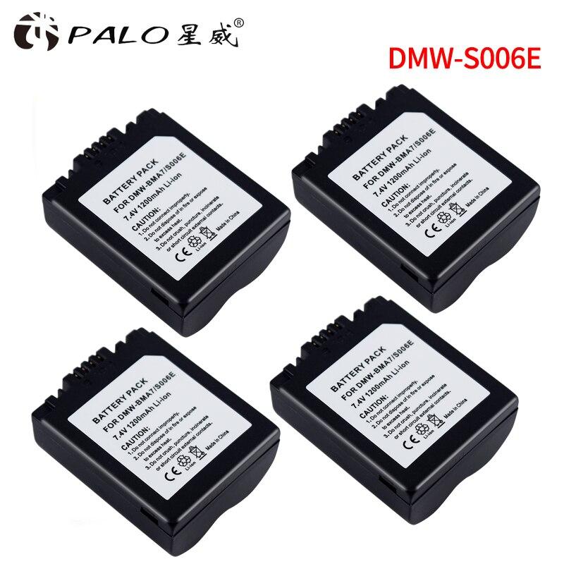 4Pcs CGA-S006 CGR CGA S006E S006 S006A DMW-BMA7 DMW BMA7 Battery for Panasonic DMC FZ7 FZ8 FZ18 FZ28 FZ30 FZ35 FZ38 FZ50 SLR ...