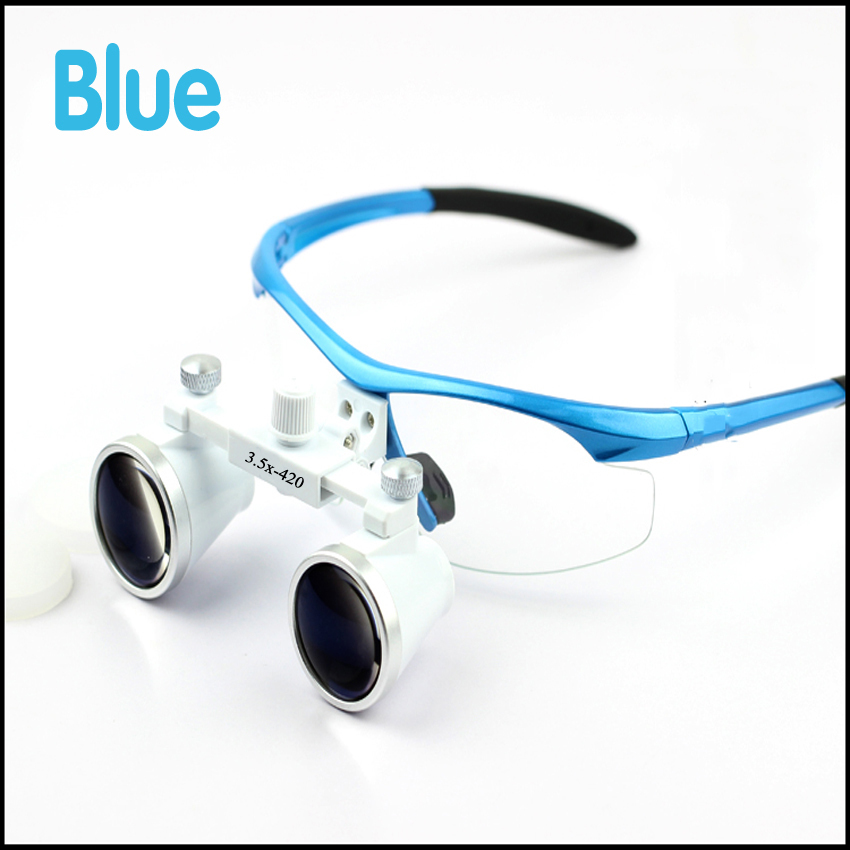 Dental Equipment Surgical dental glasses 3.5X420mm+LED Head Light Lamp dental lab Medical dental Loupes hot sale g7 dental equipment surgical dental glasses 3 5x 420mm led head light lamp dental lab blue aa medical dental loupes