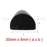 3mx20mmx8mm Self Adhesive Cabinet Foam Sponge Rubber Door Seal Strip Free Freight