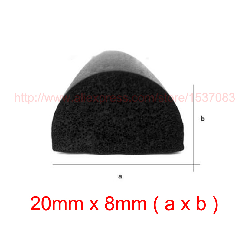 3m x 20mm x 8mm self adhesive cabinet foam sponge rubber door window seal strip