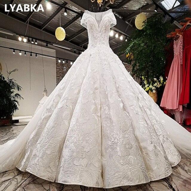 Robe De Mariage Boda Sexy Scoop Neck Wedding Dress Trouwjurk 2019 A-line Wedding  Dresses Royal Train Vestido De Noiva Wedding 48dff583552e
