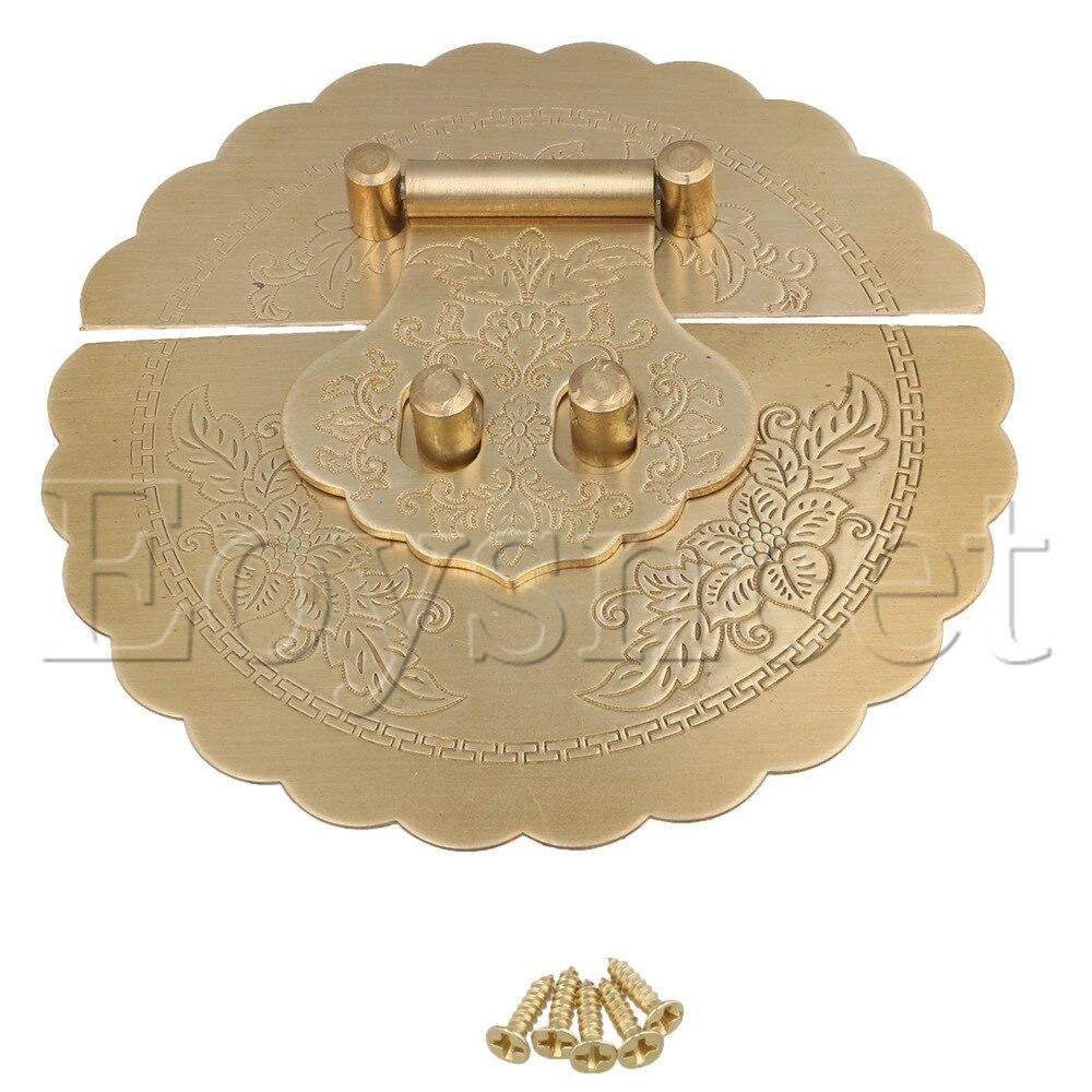 Vintage Antique Bronzy Metal Chinese Word Combination Fixed Password Lock/KeyVintage Antique Bronzy Metal Chinese Word Combination Fixed Password Lock/Key