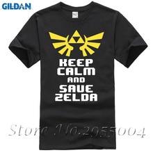 2017 New The Legend Of Zelda AND SAVE ZELDA Game Geek Nerdy Printed T Shirt Short Sleeve T-Shirt Tee Men Patchwork sol