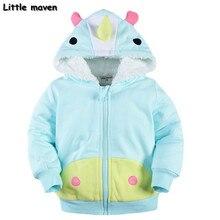 Little maven 2016 winter boys/girls small chicken hoodies Cotton Warm napping zipper coat kids brand clothing DJ001