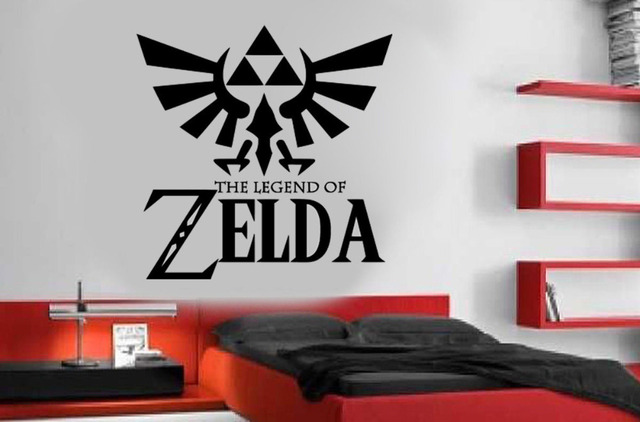 Large Legend Of Zelda Gaming Quote Vinyl Wall Art Stickers For Kids Room  Boy Bedroom Home