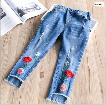 d68ca2a57 size 32054241 2018 Spirng Baby Girl Jeans Embroidery Flower Tassel Toddler  Girl Pants Denim Fashion Girls Clothes Lolita us$ 16.98/piece