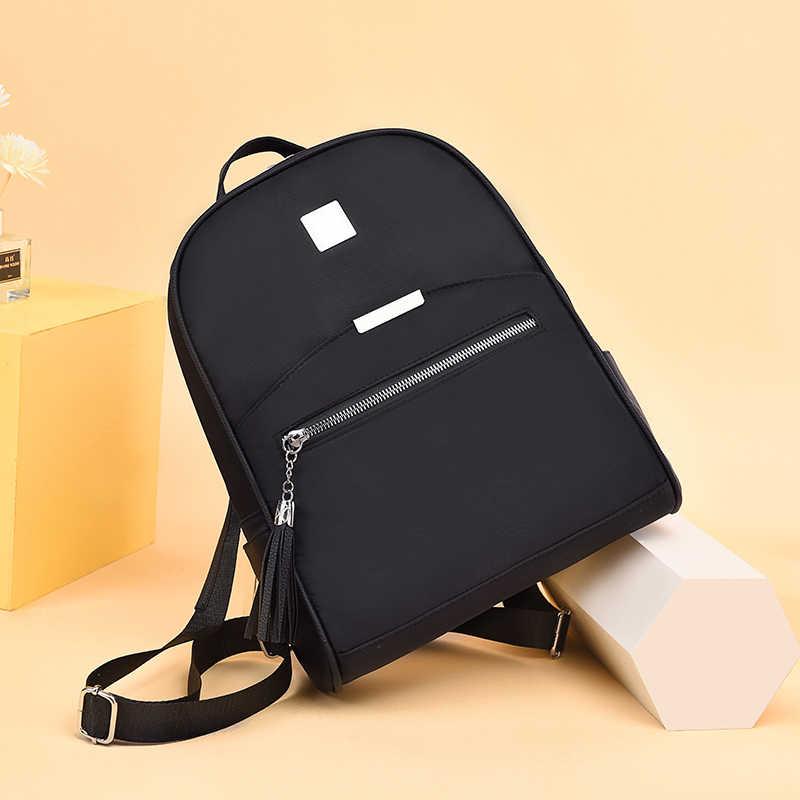 De las mujeres de la marca de mochila impermeable de la tela de Oxford bolsas de la escuela los estudiantes mochila bolsos de las mujeres de viaje bolsa de hombro para las niñas adolescentes
