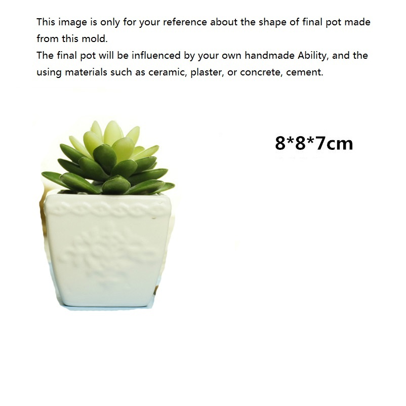 Concrete Planter Silicone Mold for DIY Craft Making Table Decoration Creative Flower Pot Mould